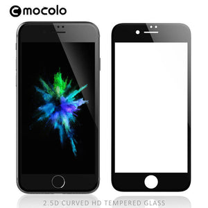 Black Mocolo 9H hardness 3D curved high definition HD tempered glass oleophobic coated cell phone screen protector for iphone 7