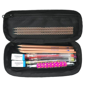 Bonne Hip pencil case containing pencils, erasers, markers, art supplies, school supplies and back to school stationery in unique cool design for girls and boys