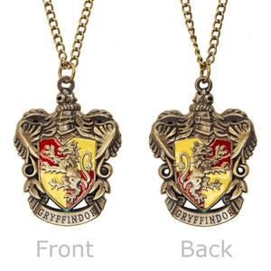 Bronze-Gold Gryffindor Crest Pendant with Bronze Chain Necklace