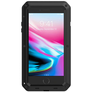 Heavy Duty Protective Phone Case - iPhone 8 Plus - The Tank Black - Military Style