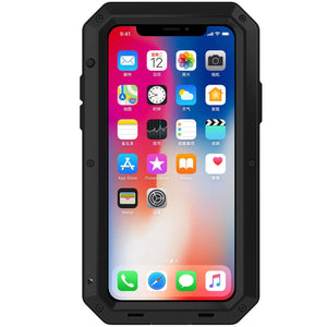 Heavy Duty Protective Phone Case - iPhone X - The Tank Black - Military Style
