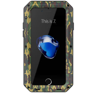 Heavy Duty Protective Phone Case - iPhone 7 - The Tank Camo - Military Style