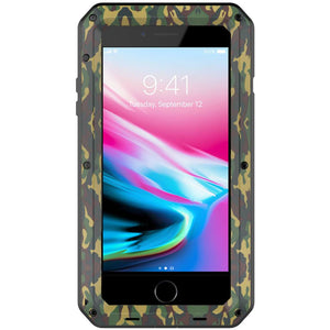 Heavy Duty Protective Phone Case - iPhone 8 Plus - The Tank Camo - Military Style