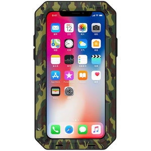 Heavy Duty Protective Phone Case - iPhone X - The Tank Camo - Military Style