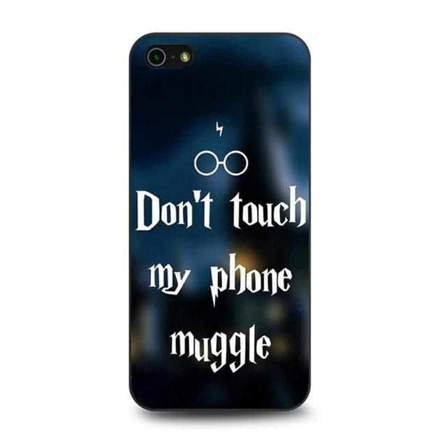Harry Potter Don t Touch My Phone Muggle protective phone case for iPhone 5 658c67a24