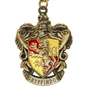 Harry Potter Jewellery Gryffindor House Crest Pendant Necklace with Medallion and Chain - Bronze-Gold