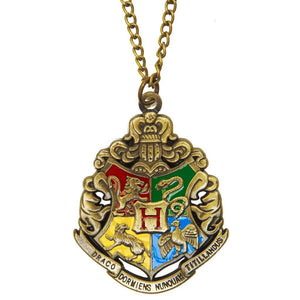 Harry Potter Jewellery Hogwarts Crest Pendant Necklace with Medallion and Chain