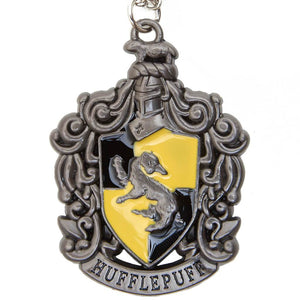 Harry Potter Jewellery Hufflepuff House Crest Pendant Necklace with Medallion - Hematite