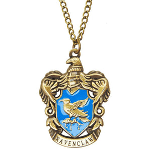 Harry Potter Jewellery Ravenclaw House Crest Pendant Necklace with Medallion and Chain - Bronze-Gold