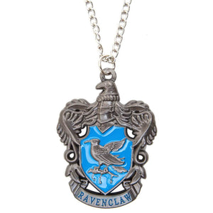 Harry Potter Jewellery Ravenclaw House Crest Pendant Necklace with Medallion and Chain - Hematite