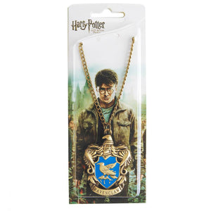 Harry Potter Jewellery Ravenclaw House Crest Pendant Necklace with Medallion and Chain in box - Bronze-Gold