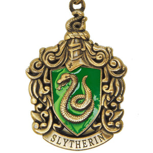 Harry Potter Jewellery Slytherin House Crest Pendant Necklace with Medallion - Bronze-Gold