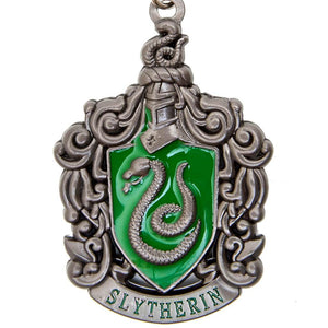 Harry Potter Jewellery Slytherin House Crest Pendant Necklace with Medallion - Hematite