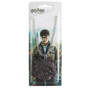 Harry Potter Talisman Jewellery Pendant Necklace with Medallion and Chain in box - Hematite