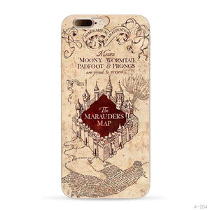 Harry Potter The Marauders Map protective phone case for iPhone 5, iPhone 5s, iPhone 5c, iPhone 6, iPhone 6 Plus, iPhone 6s, iPhone  6s Plus, iPhone 7, iPhone 7 Plus