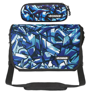 Messenger Bag with matching Pencil Case in unisex Iceberg design