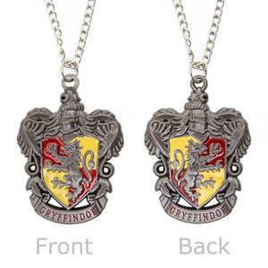Silver Gryffindor Crest Pendant with Silver Chain Necklace