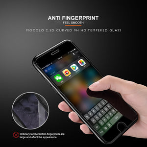 anti-fingerprint anti-oil anti-stain anti-dust oleophobic coated tempered glass screen protector for iphone 7