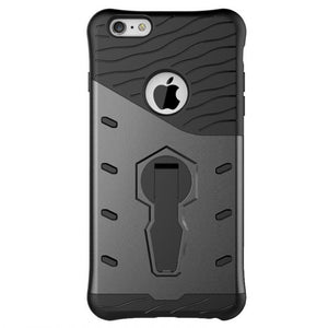 back view of new grey shockproof strong and rugged, slim, compact, light weight hard-soft protective cover and phone case for iPhone 6,iPhone 6s,iPhone 6 Plus, iPhone 6s Plus, iPhone 7 and iPhone 7 Plus