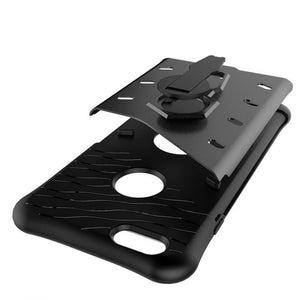 deconstructed view of new grey shockproof strong and rugged, slim, compact, lightweight, hard-soft protective cover and phone case for iPhone 6,iPhone 6s,iPhone 6 Plus, iPhone 6s Plus, iPhone 7 and iPhone 7 Plus
