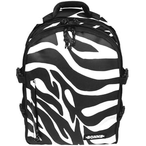 front view of Zebra laptop backpack, notebook backpack, backpack, travel backpack, best backpacks, backpack kid, school backpack, kids backpacks australia, buy backpack, day backpacks, backpacks australia