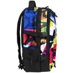 side view of X-Eyes laptop backpack, notebook backpack, backpack, travel backpack, best backpacks, backpack kid, school backpack, kids backpacks australia, buy backpack, day backpacks, backpacks australia