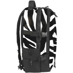 side view of Zebra laptop backpack, notebook backpack, backpack, travel backpack, best backpacks, backpack kid, school backpack, kids backpacks australia, buy backpack, day backpacks, backpacks australia