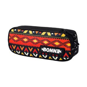 side view of cool unique Machupicchu unisex pouch for use as a pencil case, makeup case, cosmetic case, cosmetic organiser or toiletry case for girls, boys, men, and ladies for school, work university and travel