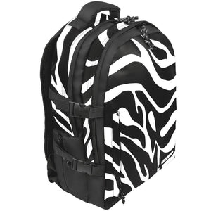 stylised view of Zebra laptop backpack, notebook backpack, backpack, travel backpack, best backpacks, backpack kid, school backpack, kids backpacks australia, buy backpack, day backpacks, backpacks australia