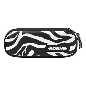 top view of cool unique Zebra unisex pouch for use as a pencil case, makeup case, cosmetic case, cosmetic organiser or toiletry case for girls, boys, men, and ladies for school, work university and travel