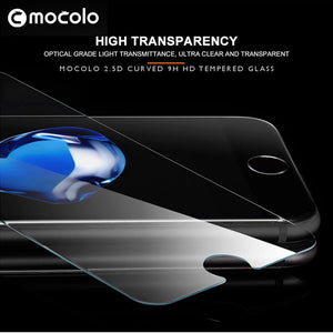 ultra clear high transparency high definition HD tempered glass screen protector for iphone 7