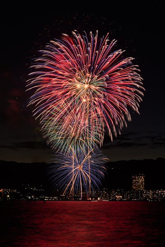 Greeting Card - Biwako Fireworks