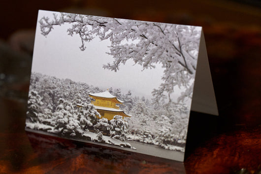 Greeting Card - Golden Pavilion in Snow