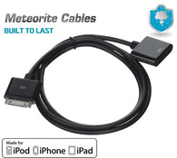 Black Dock Extender Extension Data Cable fr iPhone 4 4G 3GS 4s iPod Touch 30 pin