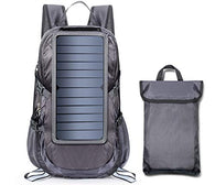 Solar Backpack Foldable Hiking Daypack With 5V Power Supply Built 2 Last