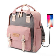 Laptop Backpack Water Resistant Rapid Solar Backpack Charger (Pink)