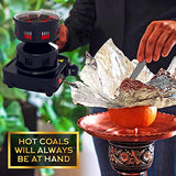 Premium Hookah Coal Burners 450W – FIRE Tower Multipurpose Electric Hookah Charcoal Burner for Shisha incl. Free Hookah Tongs, overheat Protection, 304 Steel Coil, E-Book