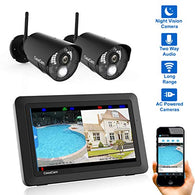 Wireless Security Camera System with 7