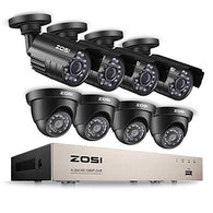 1080P HD-TVI Security Camera System Video DVR Recorder with (8) 2.0MP 1920TVL Bullet/Dome