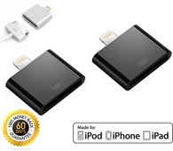 2x Lightning to 30-pin Converter Adapter for iPhone 4 to 5 Black