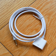 AUX 3.5mm Male to 30-pin Female for  iPhone4  4s  iPod  Dock Adapter Cable White