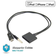 USA Micro USB to 30 Pin For iPhone 4S 4 Speaker Dock 3.5mm Audio Adapter NEW BLK