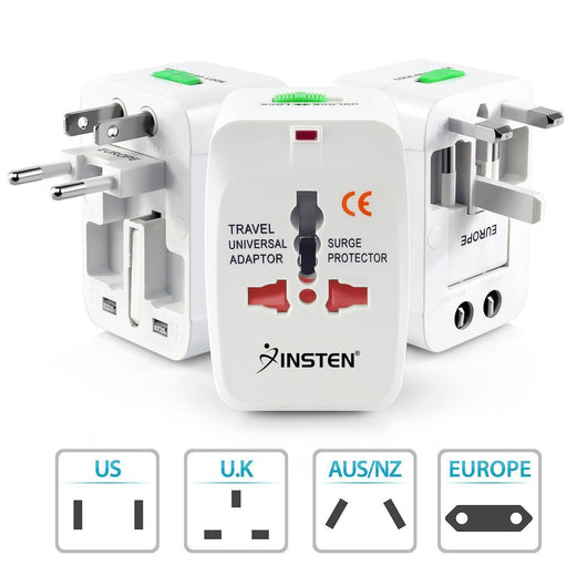 US to EU Europe and Universal AC Power Plug World Travel Adapter Converter New