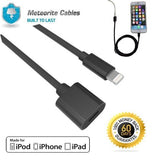Lightning Male to Female Extender Extension Cable for iPencil iPhone X 6S 8 Blk