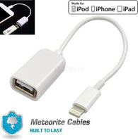 A14 8 Pin Male To USB Female OTG Adapter Lightning Cable iPhone 5/5S 6S/7/8/X