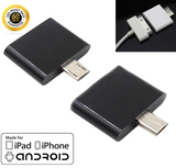 2x 30Pin Female Dock to Micro USB 5Pin Male Converter Adapter for iPhone 4S Black