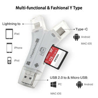 4 in 1 Type C Micro USB & USB OTG Adapter SD TF Card Reader for Samsung Phone