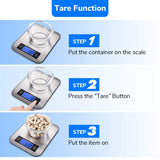 Digital Kitchen Scale Food Scales, Postage Scale Stainless Steel Accuracy with LCD Display and Tare Function for Baking Cooking and Mail 22 lb 10 kg
