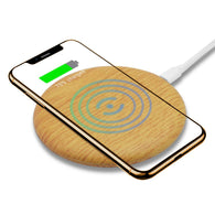 Wooden Wireless Charging Pad Base for iPhone Xs Max/XR/XS/X/8 Plus/Samsung Galaxy Note 9/8/7/6/5 Galaxy S10/10+/S10E/S9/S9+/S8+/S8 & More Qi Devices