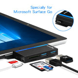 Surface Go USB Adapter Hub Type-C Combo Dock 3-Slot Card Reader
